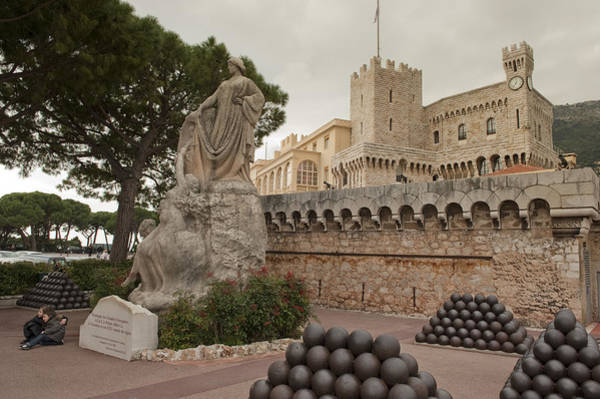 Wall Art - Photograph - Statue At The Prince Of Monacos Palace by Greg Dale