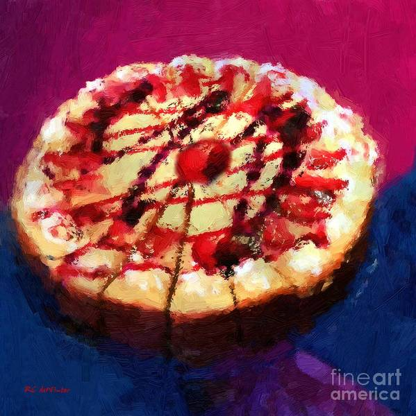 Painting - Stawberry Sin by RC DeWinter