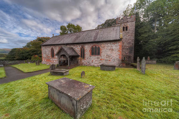 Cemetaries Wall Art - Photograph - St.dyfnog's Church by Adrian Evans