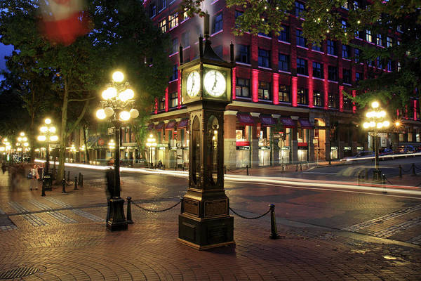 Photograph - Steam Clock In Gastown Vancouver by Pierre Leclerc Photography