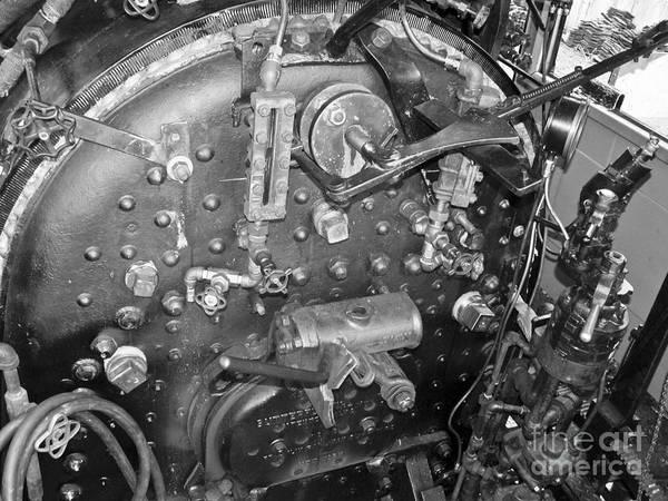 Photograph - Steam Engine Backhead by Tim Mulina
