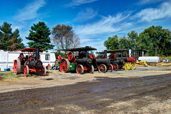 Photograph - Steam Engines Lined Up by Mark Dodd