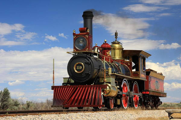 Steam Locomotive  Art Print by Gene Praag