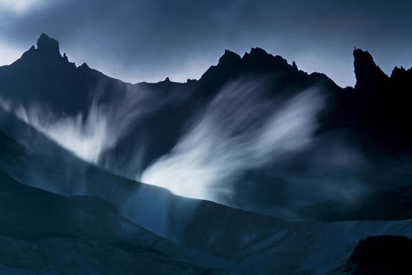 Kamchatka Photograph - Steam Vents Between Ridges At The Base by Michael Melford