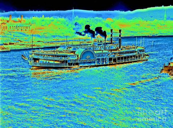 Houseboat Photograph - Steamboat 'cincinnati' 1906 by Padre Art