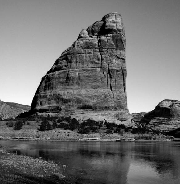 Dinosaur National Park Photograph - Steamboat Rock Black And White Two by Joshua House