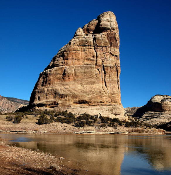 Dinosaur National Park Photograph - Steamboat Rock Color  by Joshua House