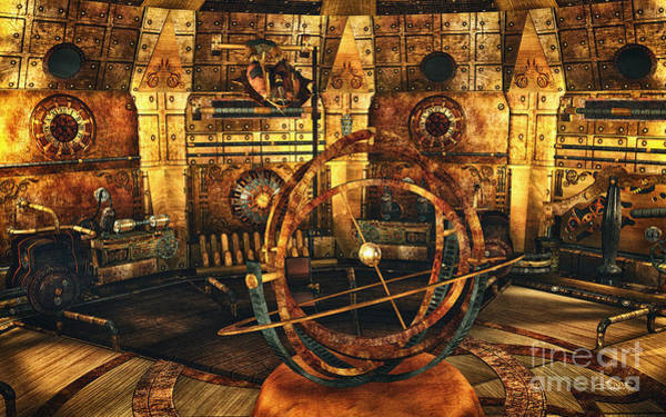 Digital Art - Steampunk Time Lab by Jutta Maria Pusl