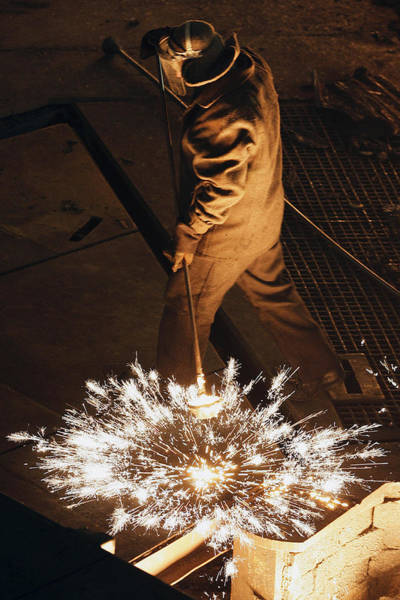 Protective Clothing Photograph - Steel Foundry Worker by Ria Novosti