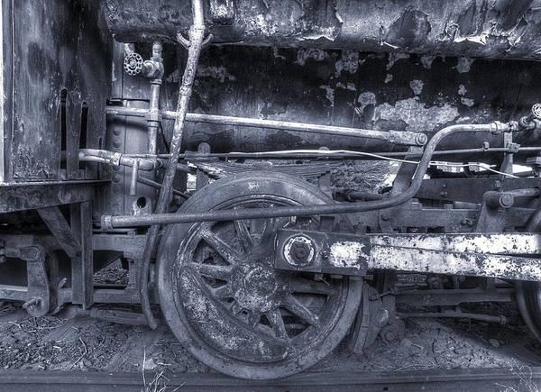Photograph - Steel Wheels by HW Kateley