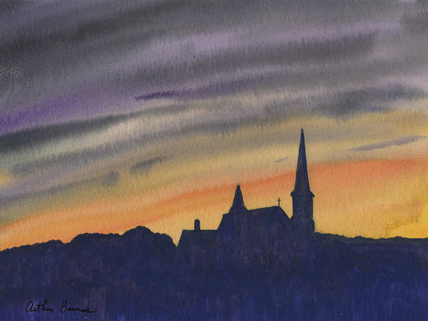 Ashes Painting - Steeple And Sky by Arthur Barnes