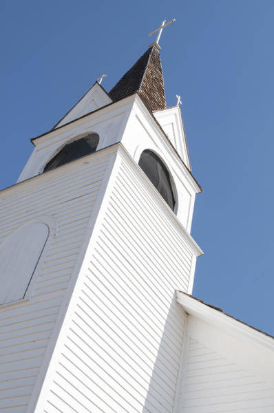 Photograph - Steeple On St. Joseph's Catholic Mission Church by Fran Riley