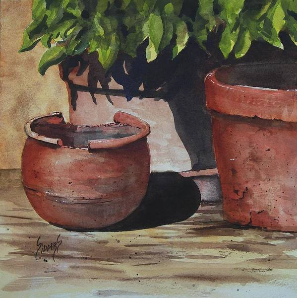 Painting - Stephanie's Pots by Sam Sidders
