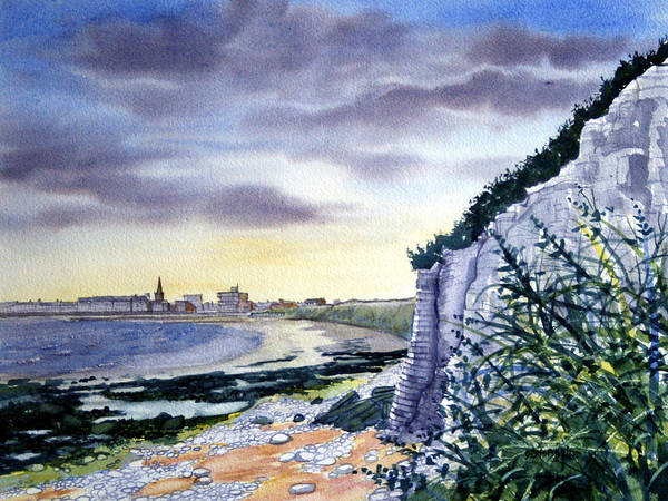 Bridlington Painting - Steps To Shore by Glenn Marshall