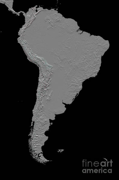 Anaglyph Photograph - Stereoscopic View Of South America by Stocktrek Images