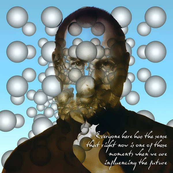 Dali Digital Art - Steve Jobs - Abstract by Radu Aldea