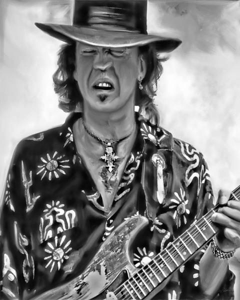 Rays Digital Art - Stevie Ray Vaughan 1 by Peter Chilelli
