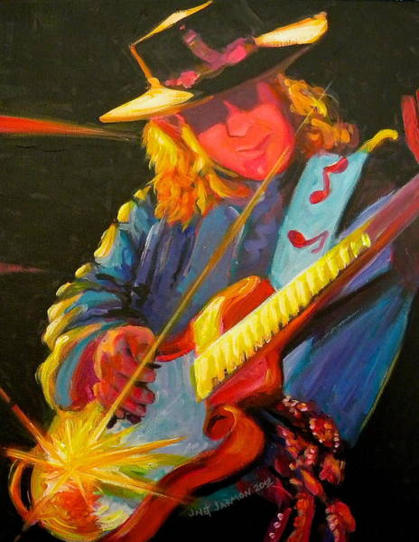 Painting - Stevie Ray Vaughn by Jeanette Jarmon
