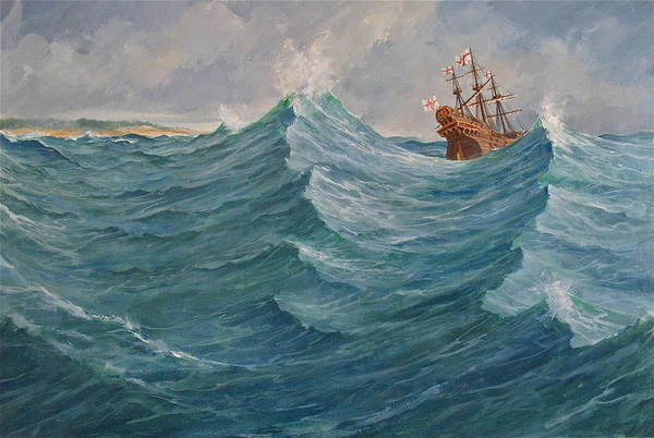 Painting - Still Afloat But Different Direction And Purpose Metaphorically Speaking  by Cliff Spohn