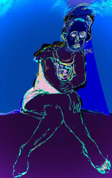 Wall Art - Mixed Media - Still In The Blues by Noredin Morgan