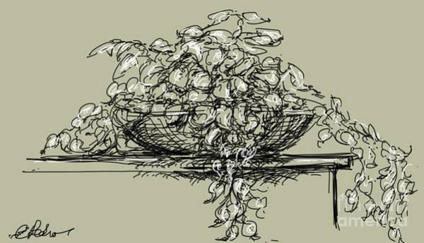 Wicker Basket Digital Art - Still Life No. 5 by George Pedro