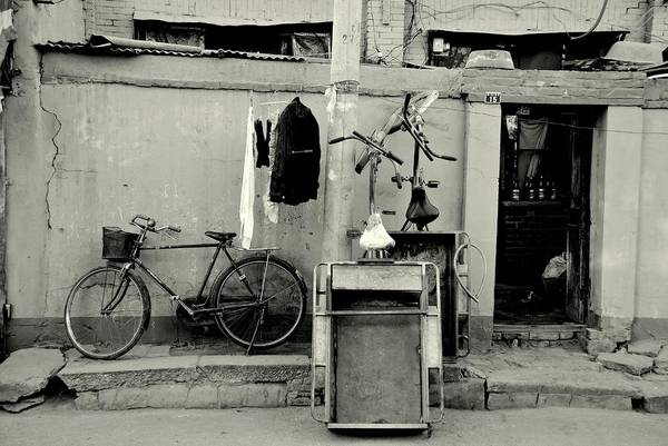 Wall Art - Photograph - Still Life With Bicycles And Laundry by Dean Harte