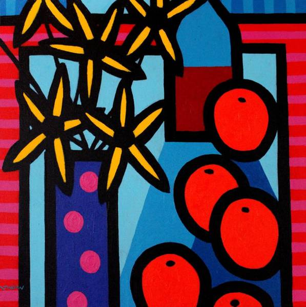 Wall Art - Painting - Still Life With Five Oranges by John  Nolan