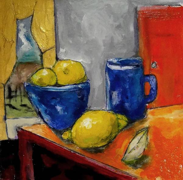 Painting - Still Life With Lemons by Dilip Sheth