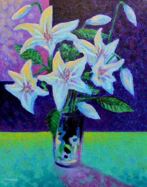 Wall Art - Painting - Still Life With Lilies by John  Nolan