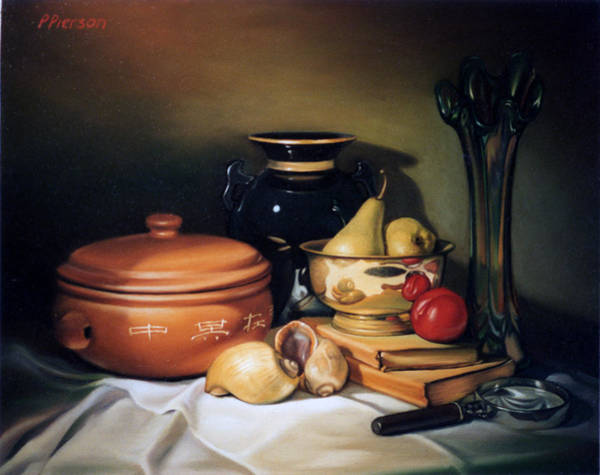 Carnival Painting - Still Life With Pears by Patrick Anthony Pierson