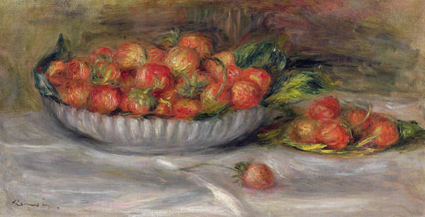 Renoir Wall Art - Painting - Still Life With Strawberries by Pierre Auguste Renoir