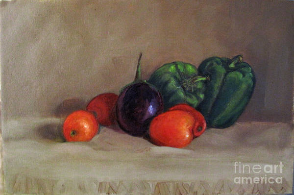 Painting - Still Life With Tomatoes And Capsicums by Asha Sudhaker Shenoy