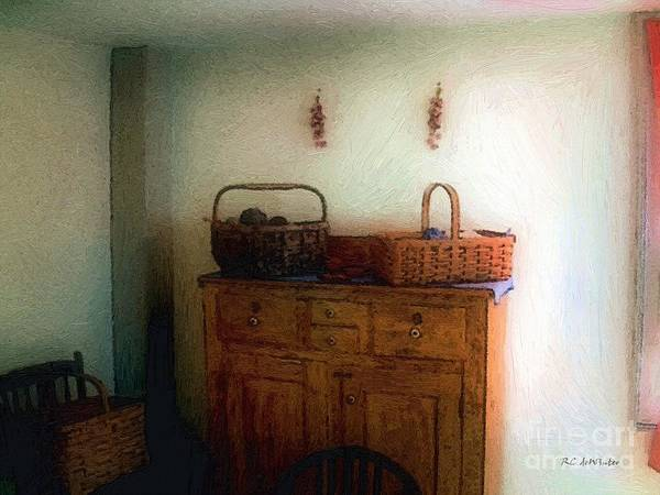 Painting - Still Life Wth Sewing Baskets by RC DeWinter