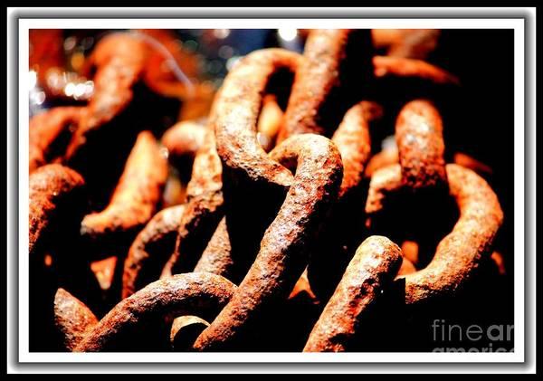 Chain Link Photograph - Still Seaworthy by Carol Groenen