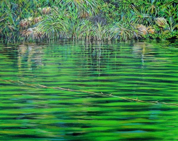 Usha Painting - Still Waters by Usha Shantharam