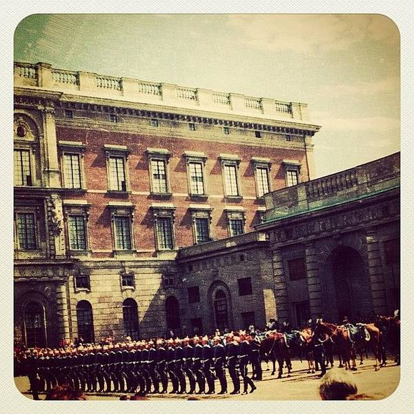 Military Photograph - Stockholm Changing Of The Guards by Natasha Marco