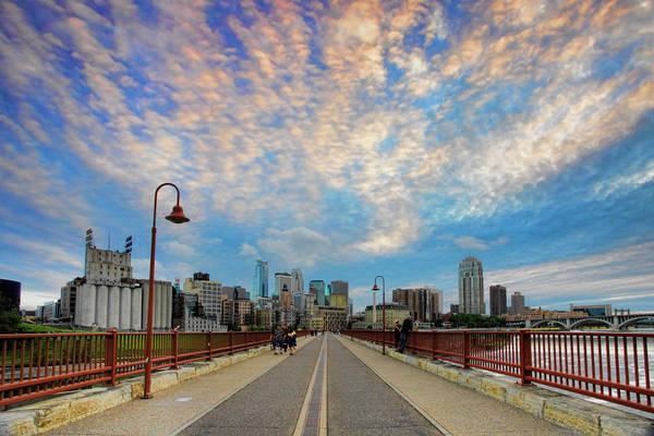Twin Cities Photograph - Stone Arch Bridge by Rick Berk