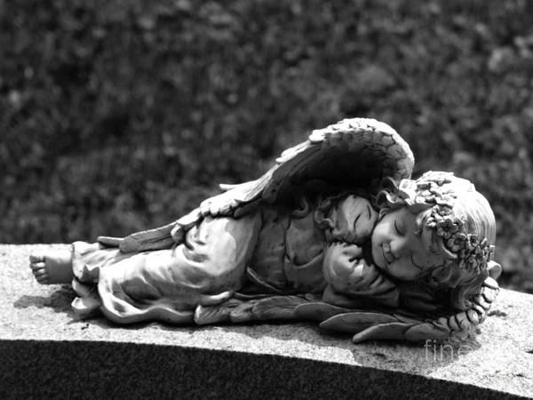 Photograph - Stone Cherub Photograph by Kristen Fox