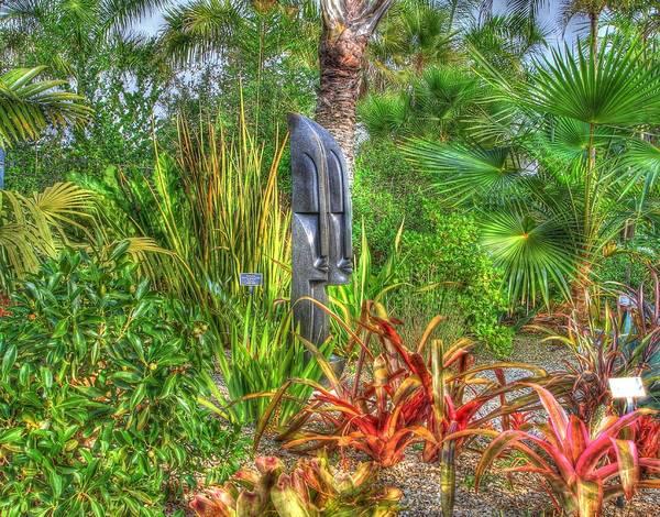 Photograph - Stone Faced In The Garden by Sean Allen