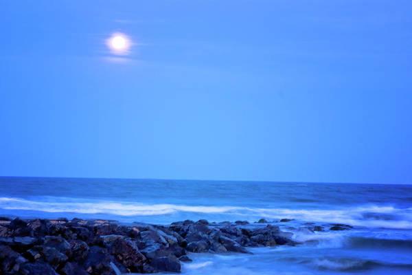 Photograph - Stone Harbor Full Moon by Tom Singleton