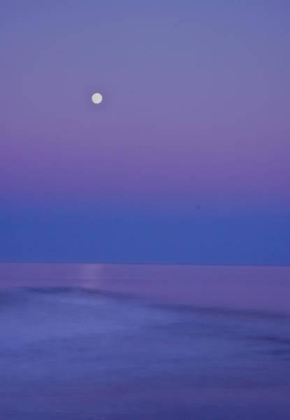 Photograph - Stone Harbor Moonrise by Tom Singleton