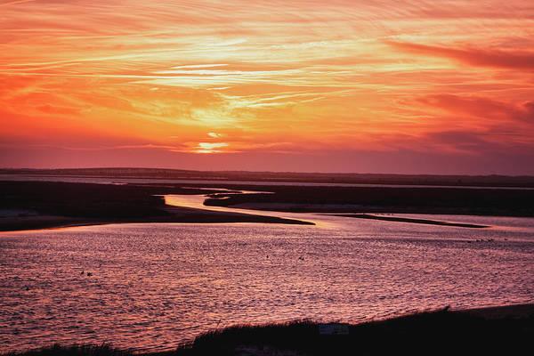 Photograph - Stone Harbor Sunset by Tom Singleton