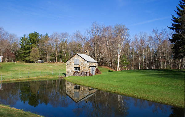 Photograph - Stone Shed Wide Spring by Larry Landolfi