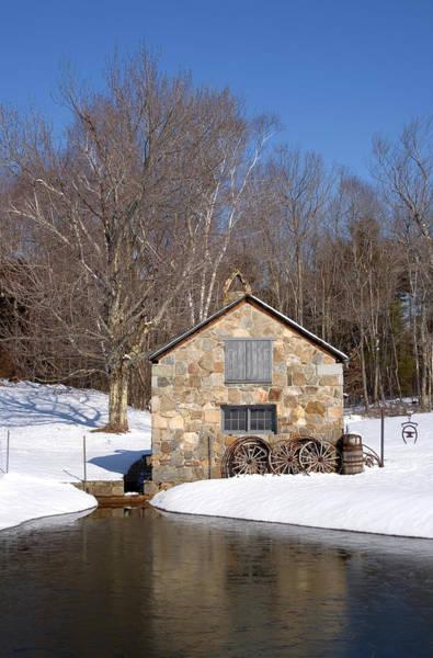 Photograph - Stone Shed Winter by Larry Landolfi