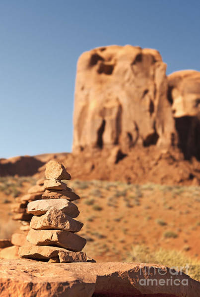 Navajo Indian Reservation Photograph - Stone Stack. by Jane Rix