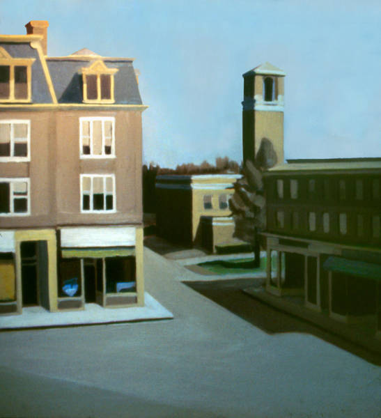 Painting - Stoneham Square Two 1979 by Nancy Griswold