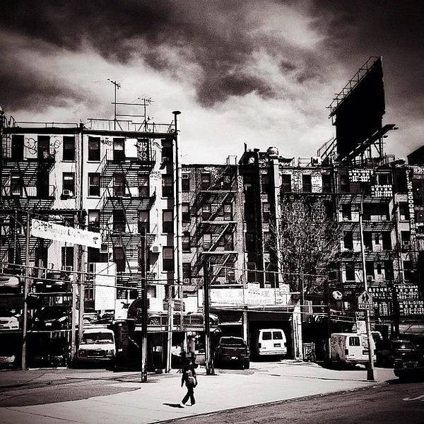 Black And White Photograph - Storm Clouds - Chinatown - New York City by Vivienne Gucwa