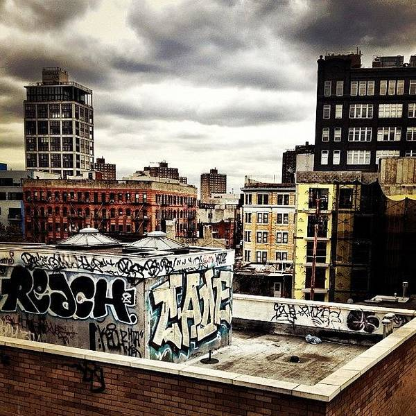Storm Clouds And Graffiti Looking Out Art Print