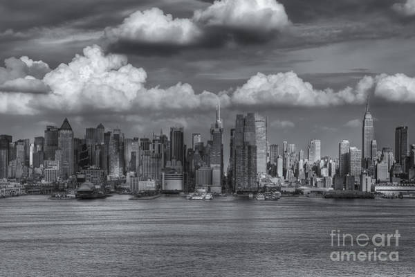 Photograph - Storm Clouds Over New York City I by Clarence Holmes