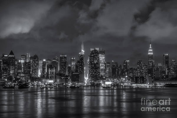Photograph - Storm Clouds Over New York City IIi by Clarence Holmes